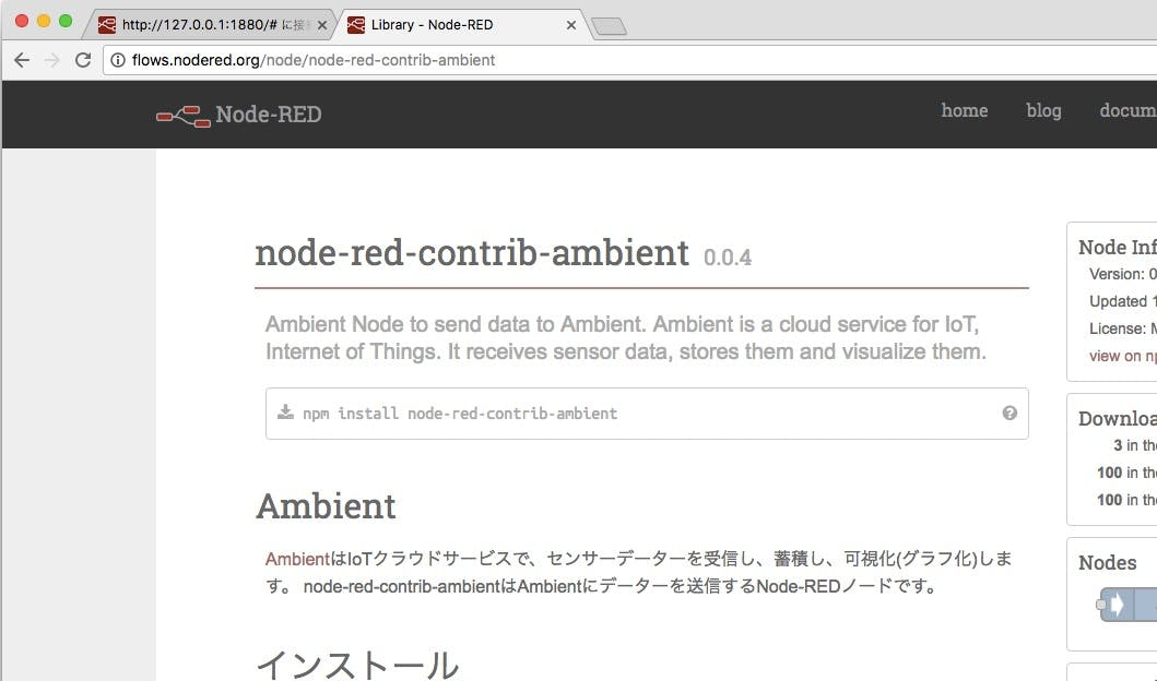 node-red library