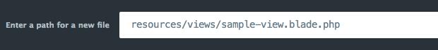 Create sample file