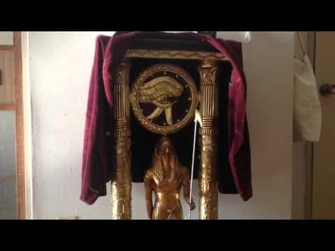 大きめのエジプト神像が送りつけられたので目覚まし機能を搭載した