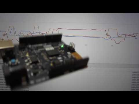 Arduinoを動かすとグラフ描画に反映される様子