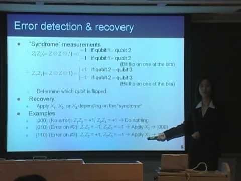 量子コンピュータ授業 #10 量子誤り訂正 山口文子
