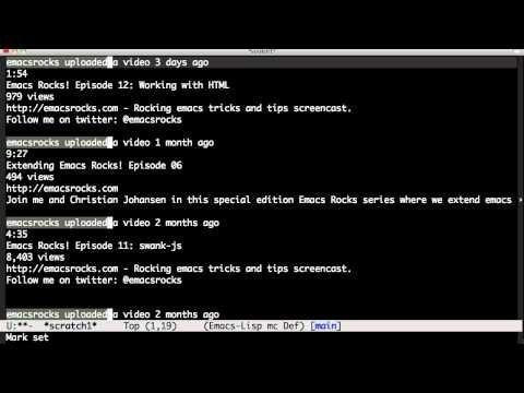 Emacs Rocks - multiple-cursors