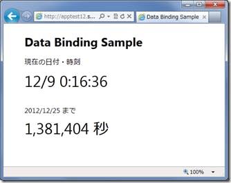 Data Binding Sample