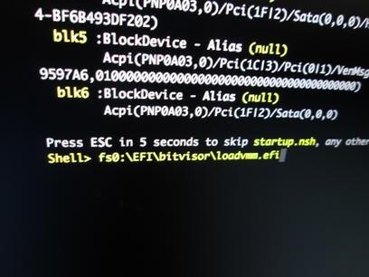 EFI Shellの画面