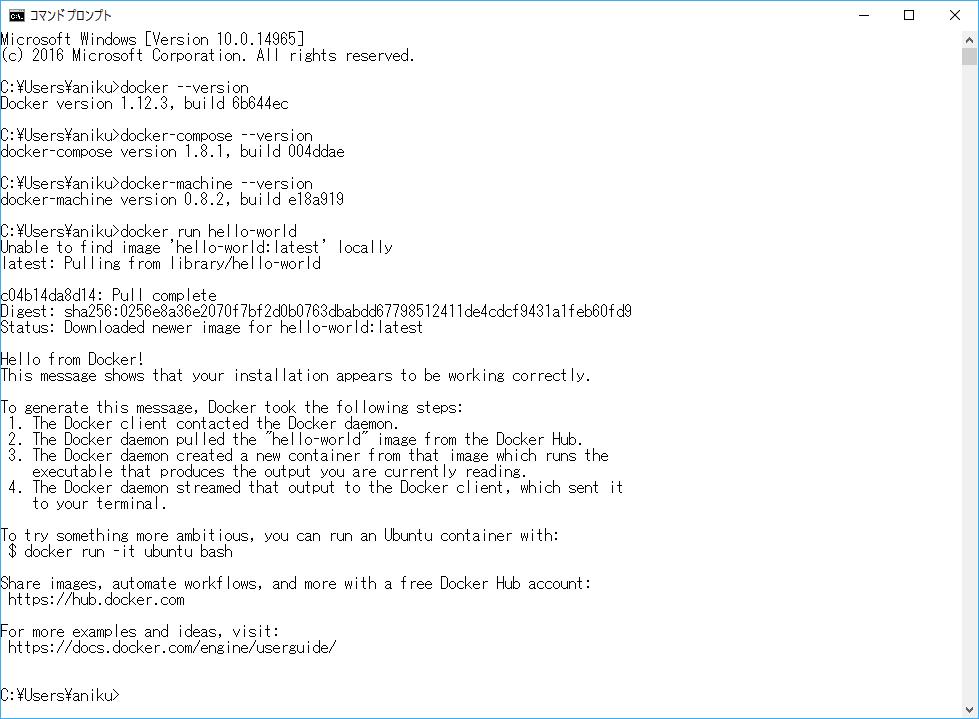 docker-windows-command