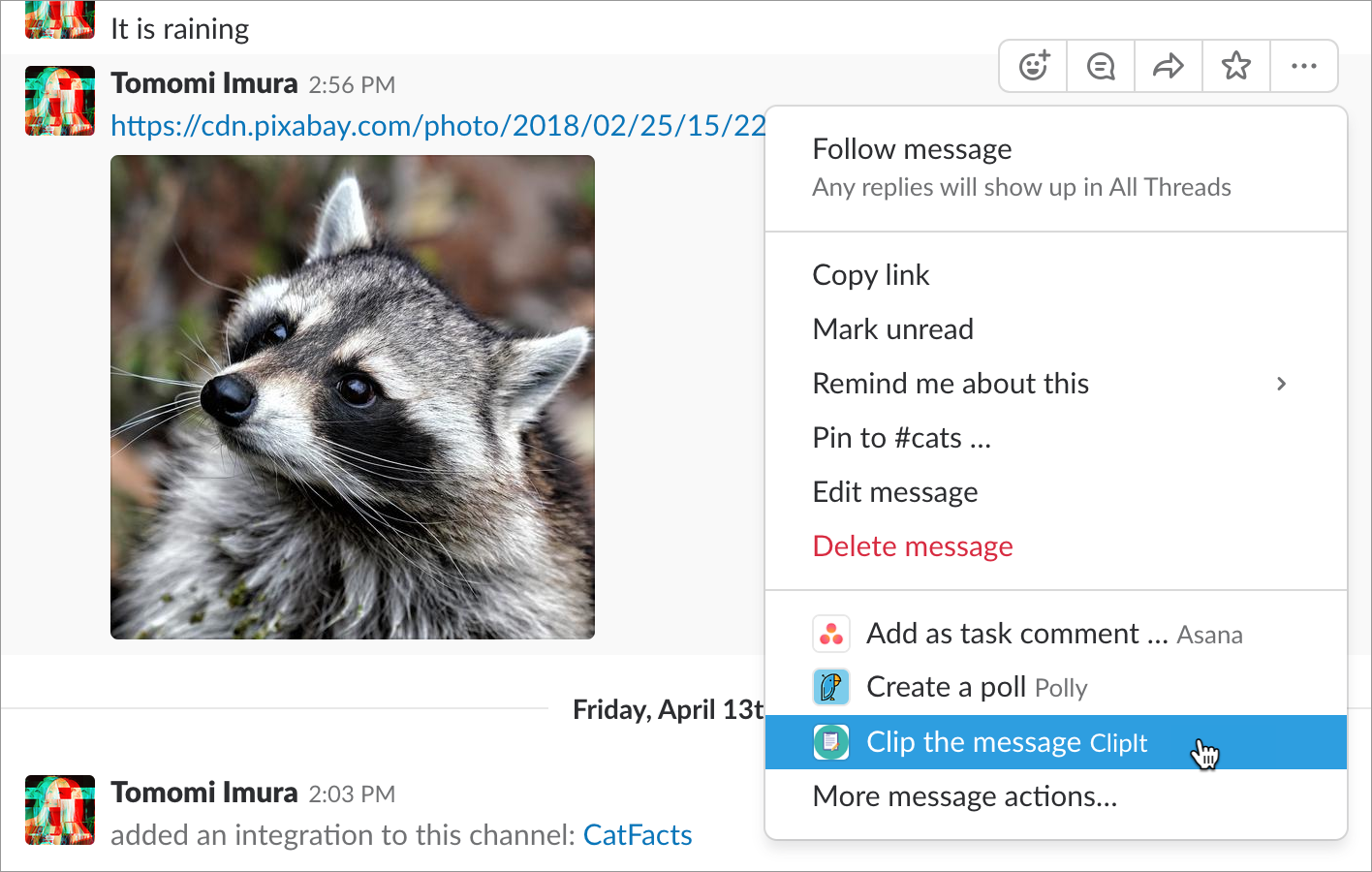Slack API Actions