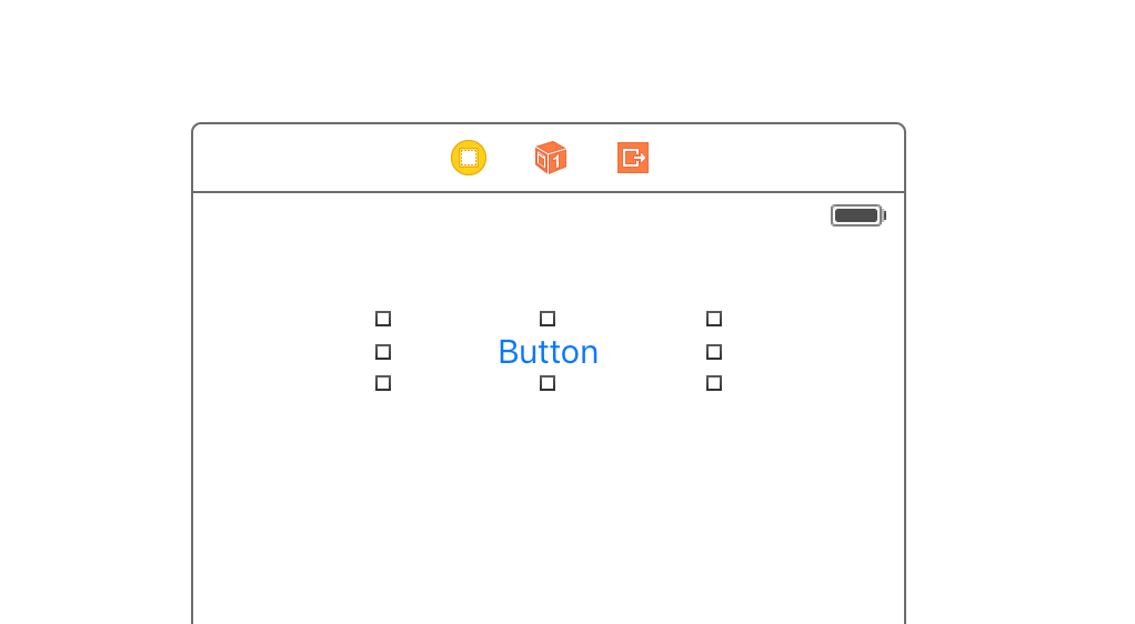 Added a UIButton