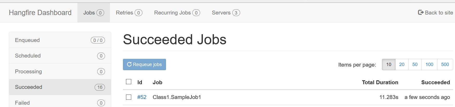 succeeded jobs