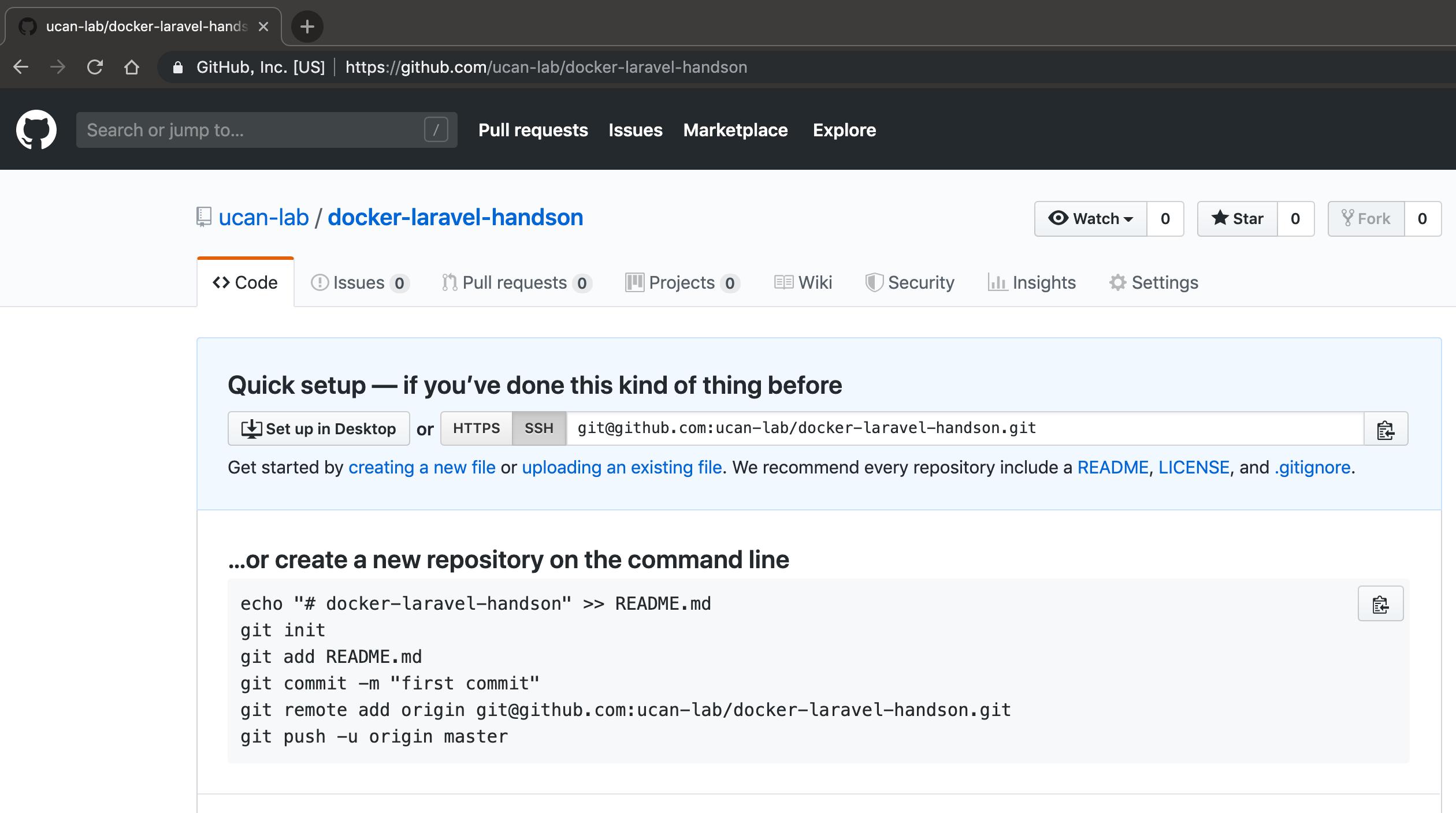 GitHub docker-laravel-handson