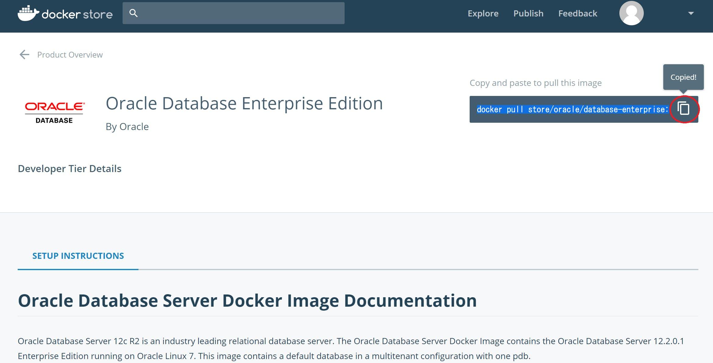 Docker Store から Oracle Database 構築 - Qiita