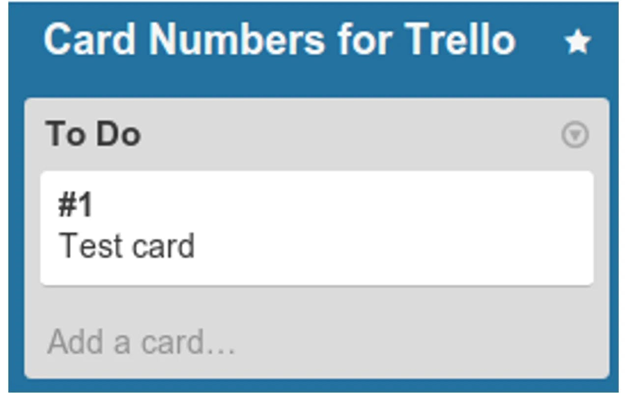 Card Numbers for Trello