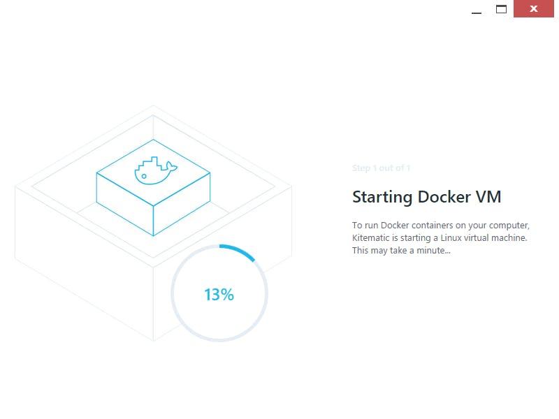 Docker仮想マシンが作成