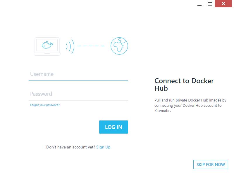 Docker Hubのログイン