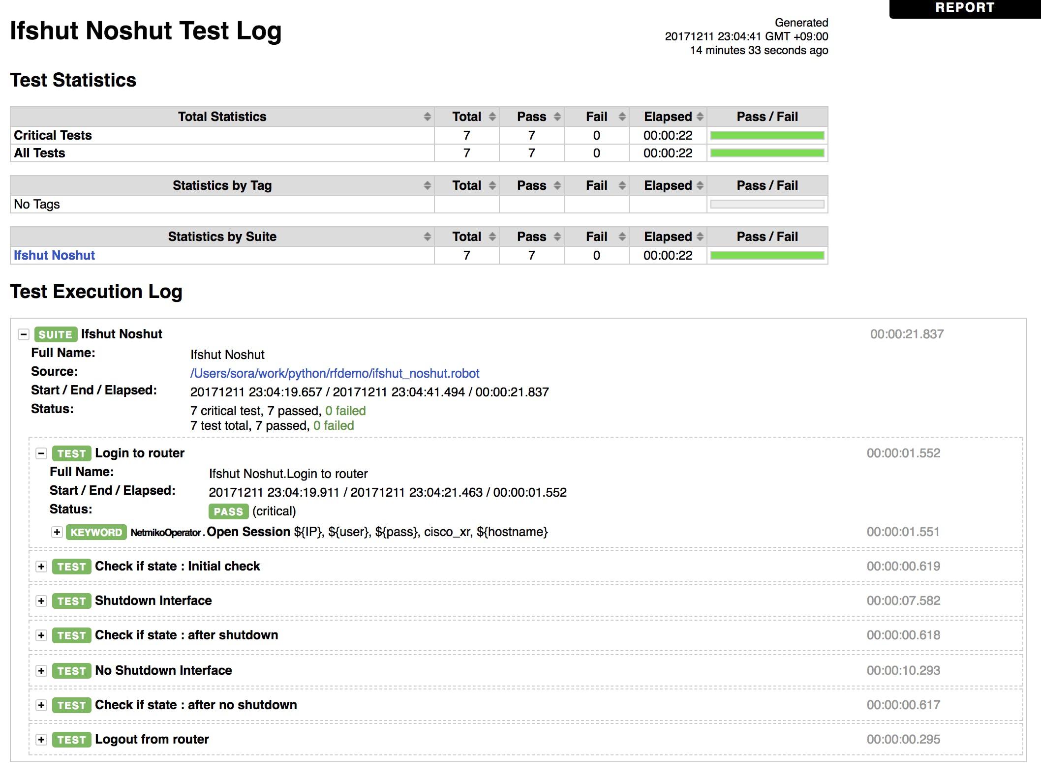 Robot Framework + Netmiko + textfsm でネットワーク試験の自動化をして