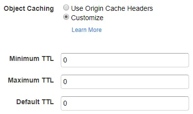 Default Cache Behavior Settings (2/2)
