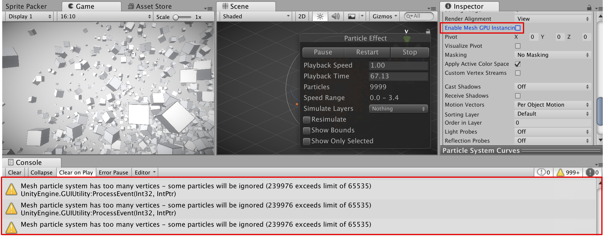 Unity 2018.2.7f1 Personal (64bit) - [PREVIEW PACKAGES IN USE] - SampleScene.unity - UnityParticleMesh - PC, Mac & Linux Standal… 2018-10-06 14-22-05.png