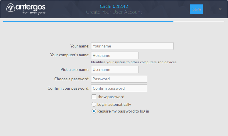 Create Your User Account