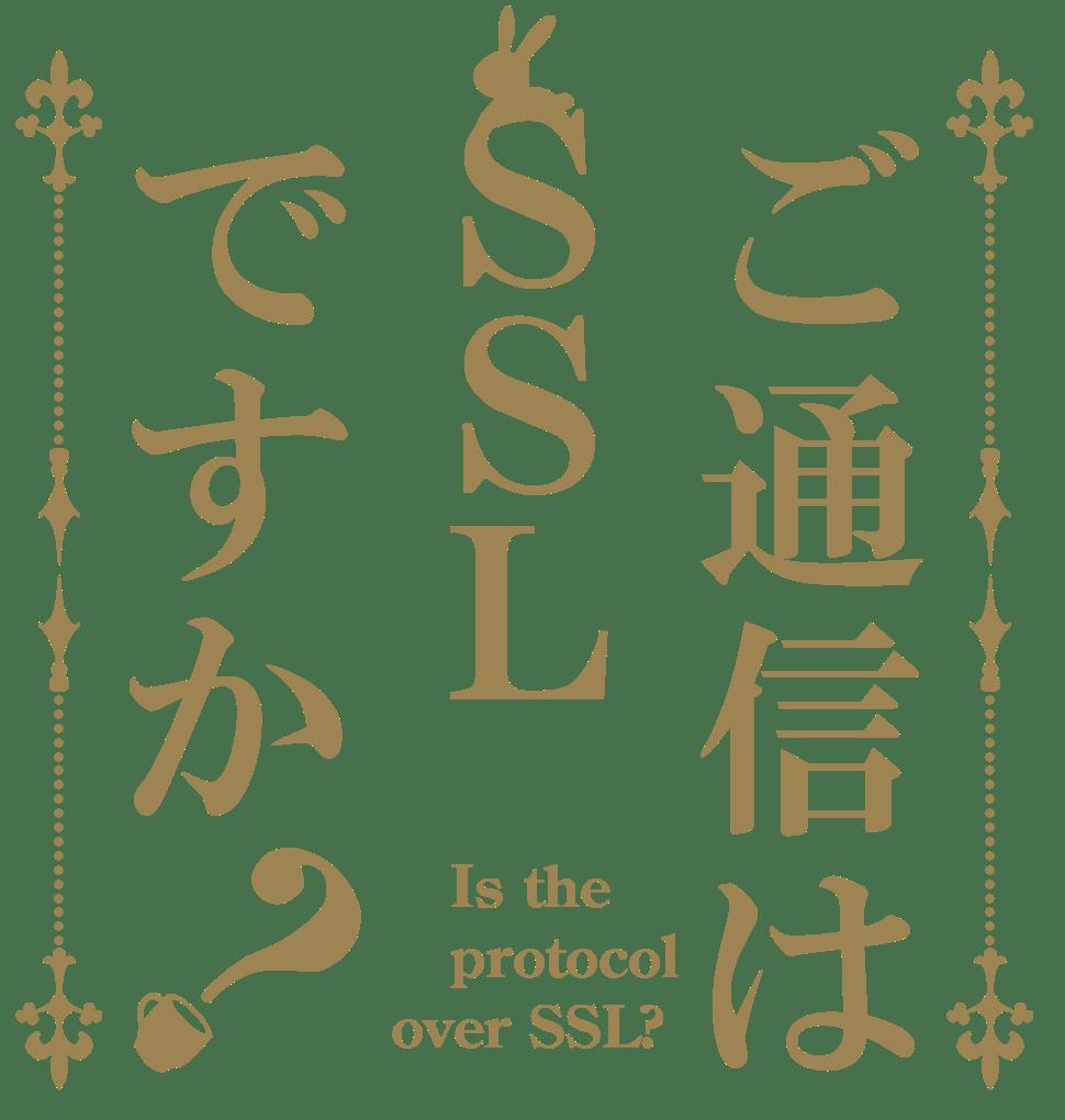 ご通信は SSL ですか?