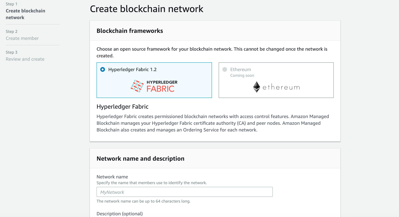 Create blockchain network001<br>