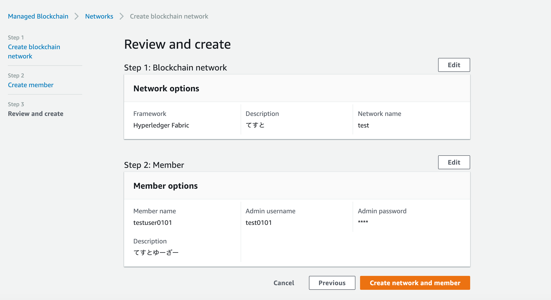 Create blockchain network004