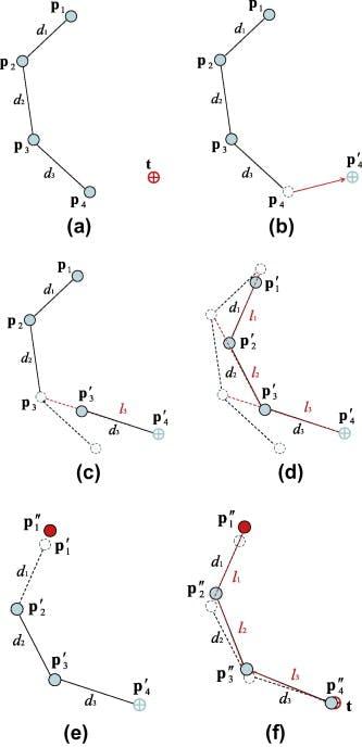逆運動学解を導出するFABRIKアルゴリズムをPythonで実装する - Qiita