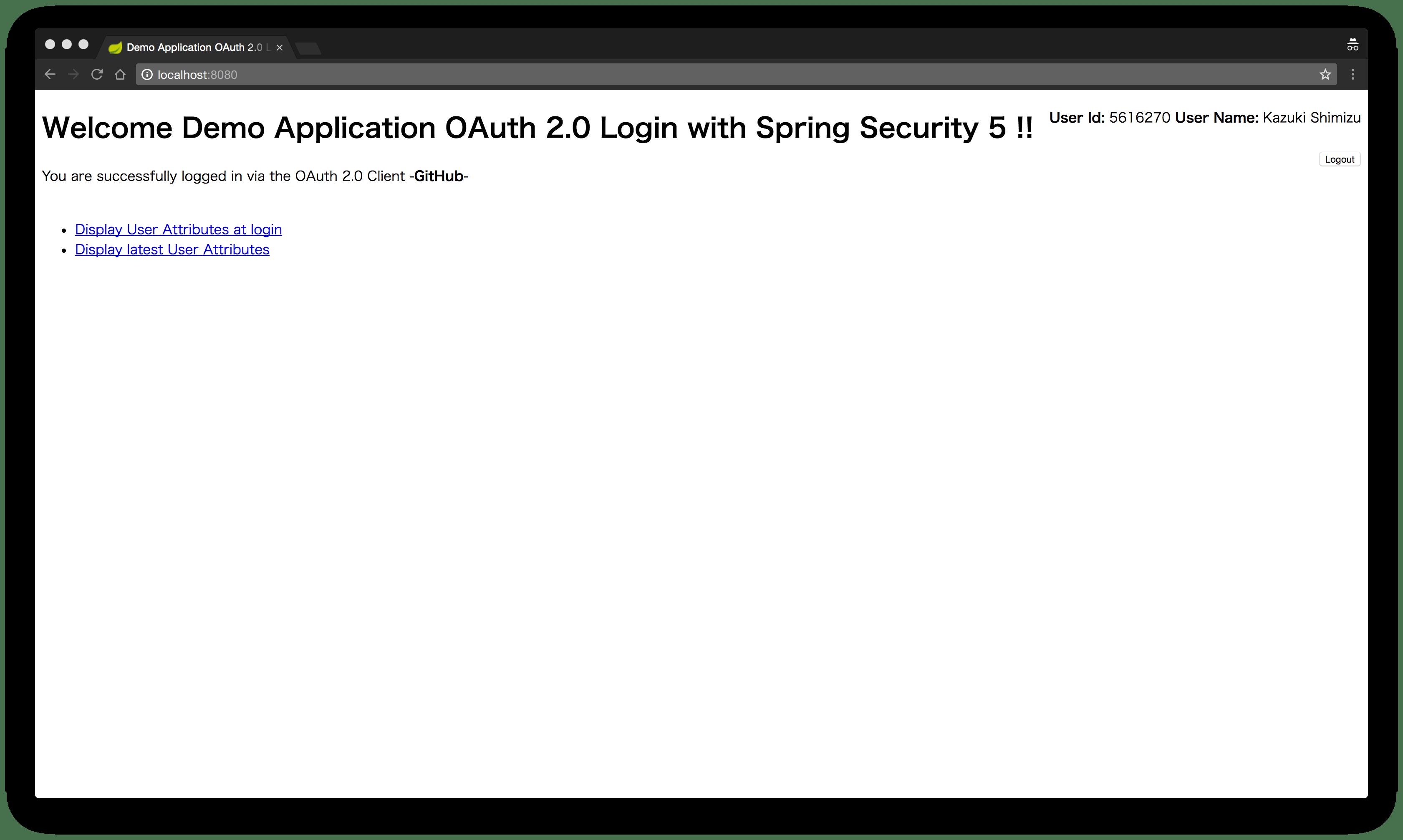 第1回:Spring Security 5でサポートされるOAuth 2 0 LoginをSpring Boot