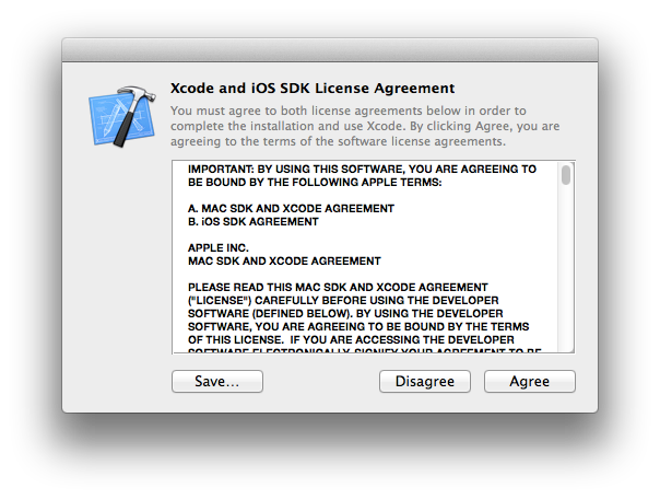 Xcode and iOS SDK License Agreement
