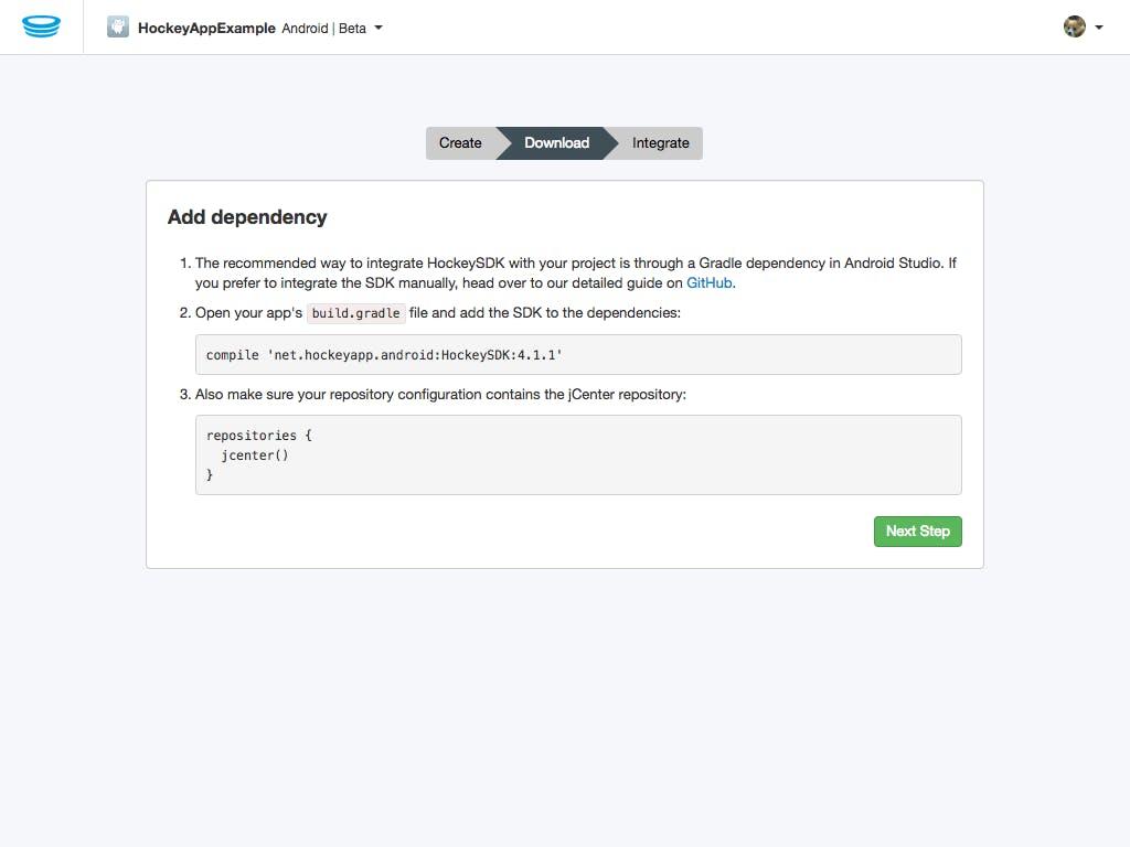 Integration_ Add dependency – HockeyApp.png
