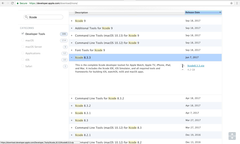 Xcode - インストール可能 対応バージョン macOS 一覧 / Install Support