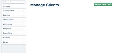 Register New Client