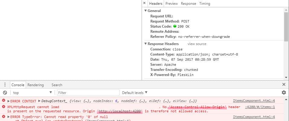 Angular2/Angular4のHTTPでPOSTリクエストのCORS問題を解決する - Qiita