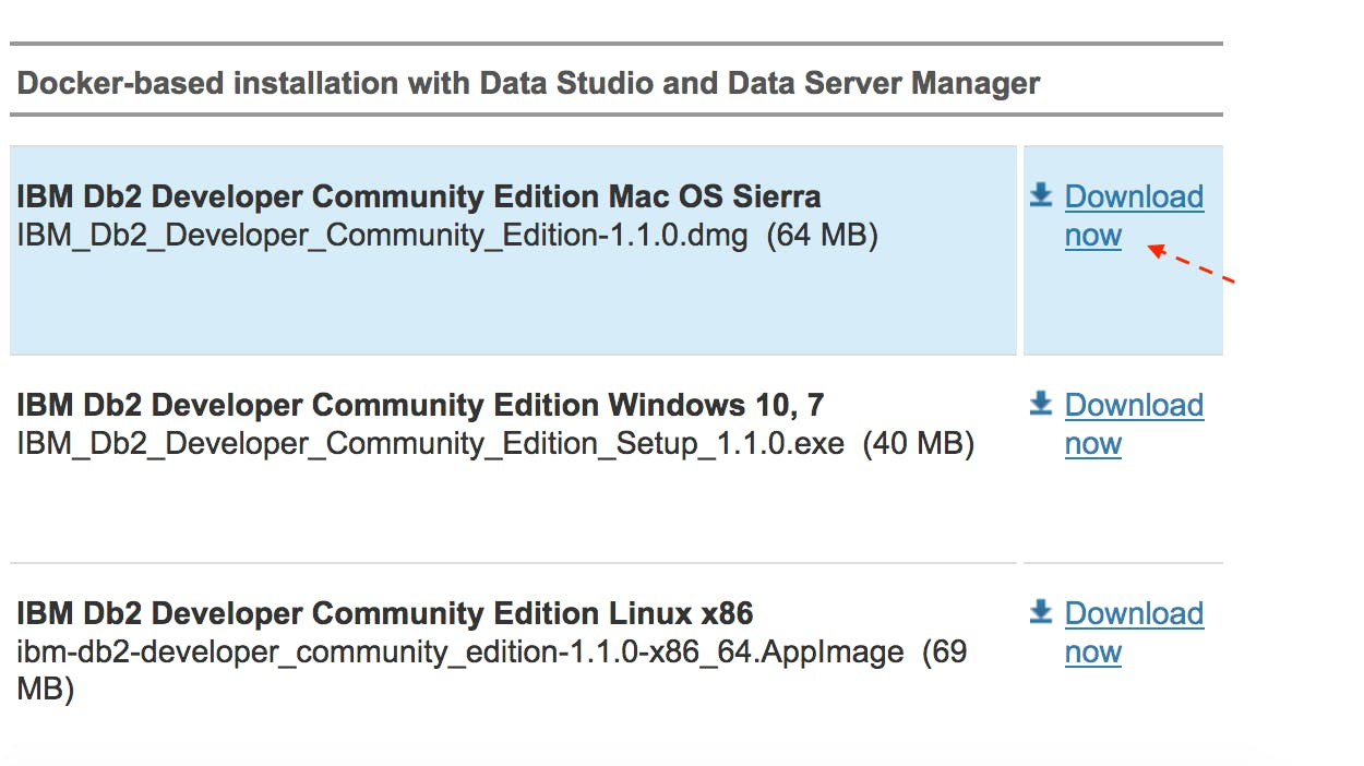 "Db2 Developer Community Editionを """