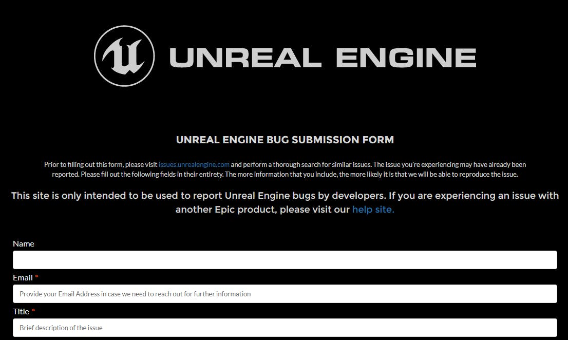 unrealenginebugsubmissionform.png