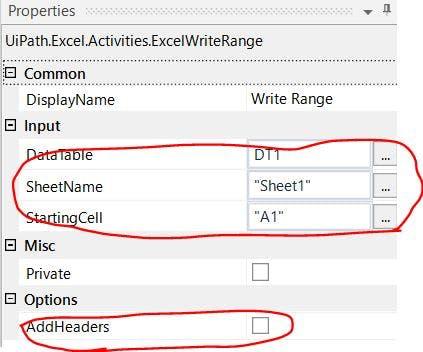 Uipath Excel Read Range