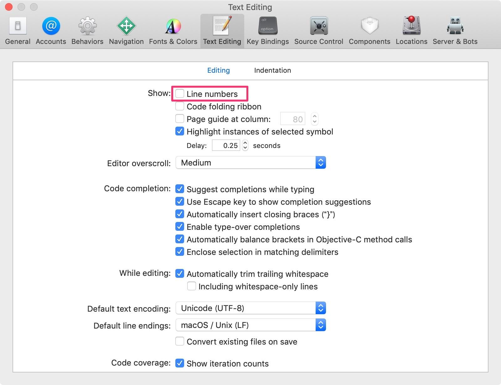 Xcode環境設定_Editing_行番号.jpg
