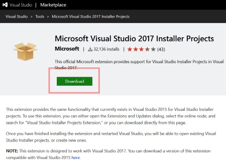Microsoft Visual Studio 2013 Installer Projects