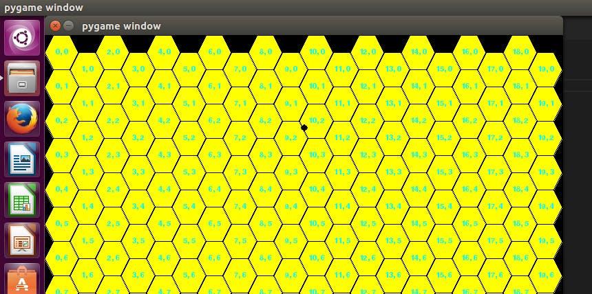 Python Draw Hexagon Grid