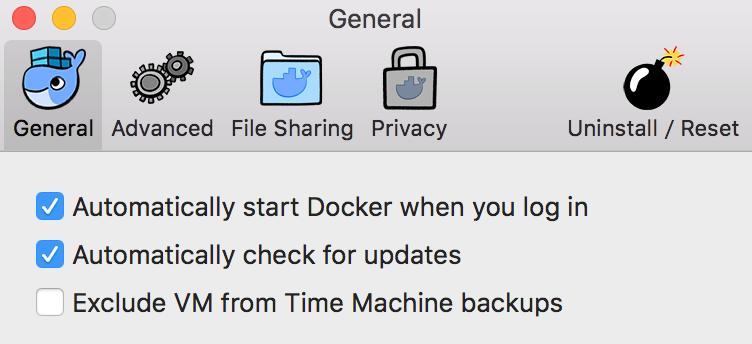 Docker for Mac Uninstall