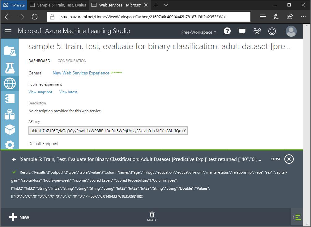 studio.azureml.net test.result.webservice.png