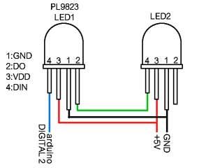 PL9823 LED接続