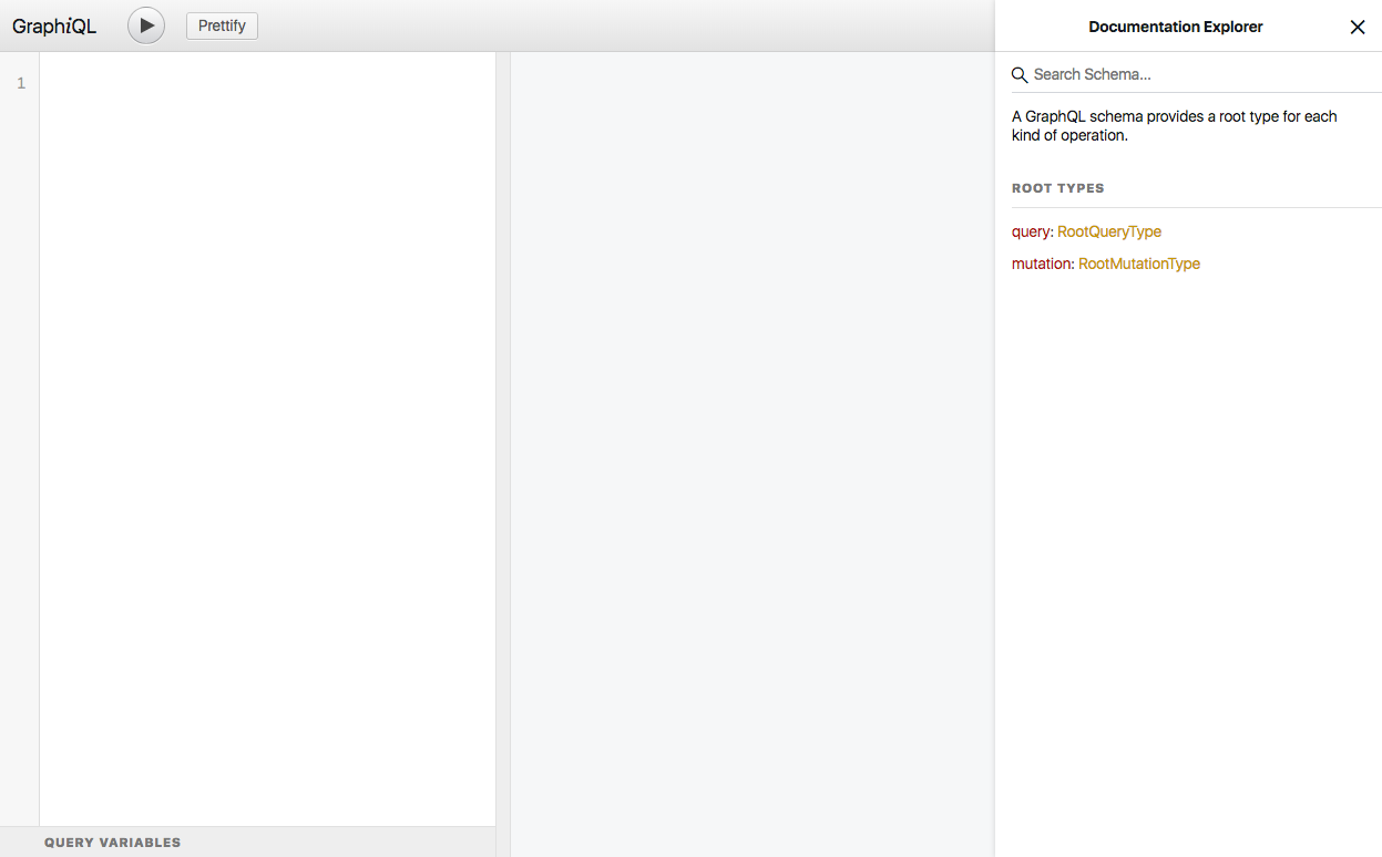 GraphiQL の画面