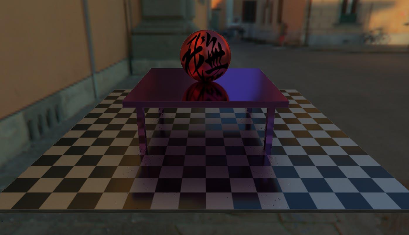 テーブル状に箱をスタックした例