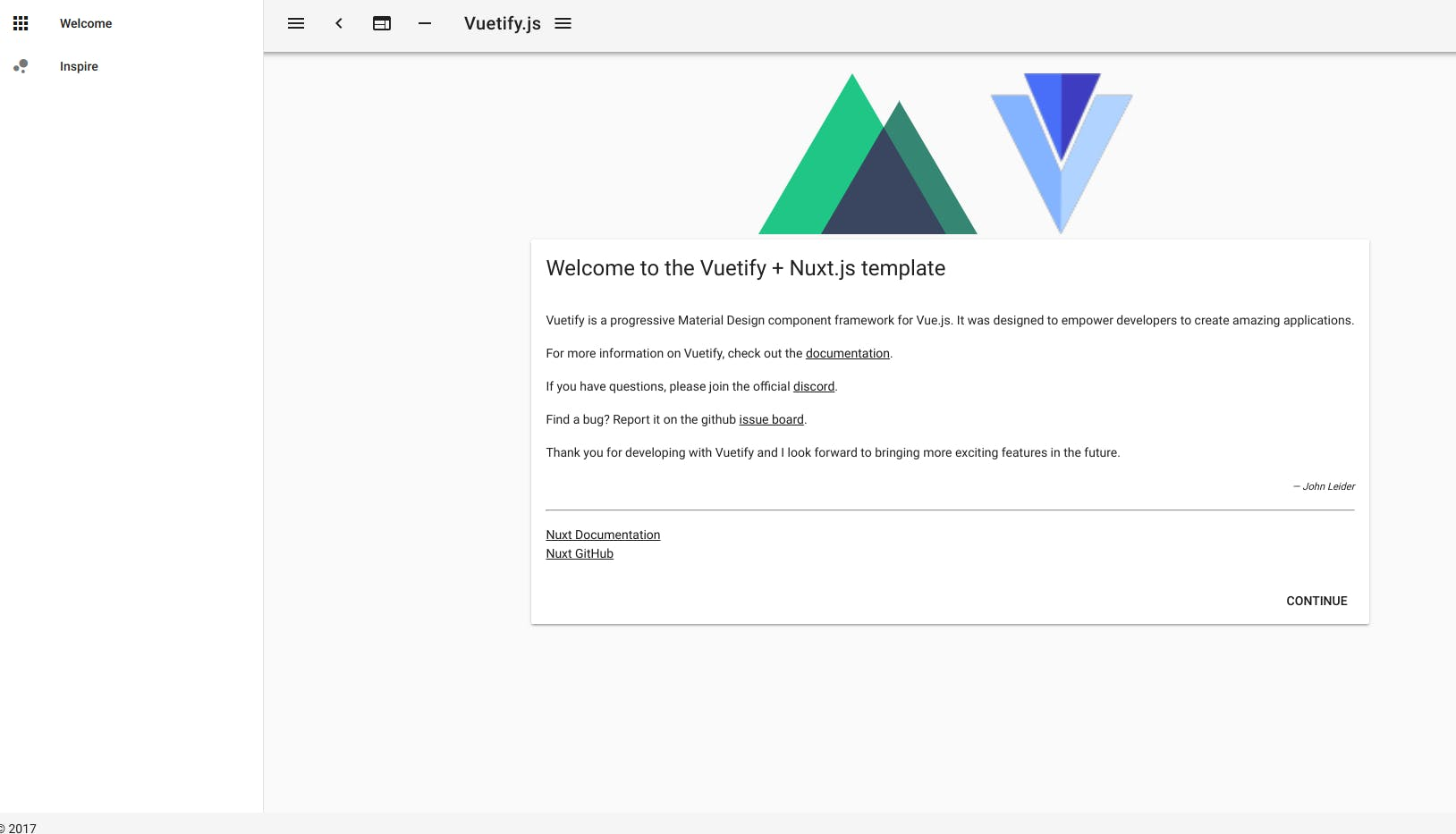 Linux(ubuntu)環境でVue js/Nuxt js試行(その2:「VuetifyのUI
