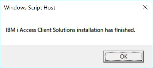 All About ACS: IBM i Access Client Solutions をスクリプトで対話型