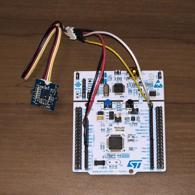 Nucleo-F411RE + Gesture Sensor