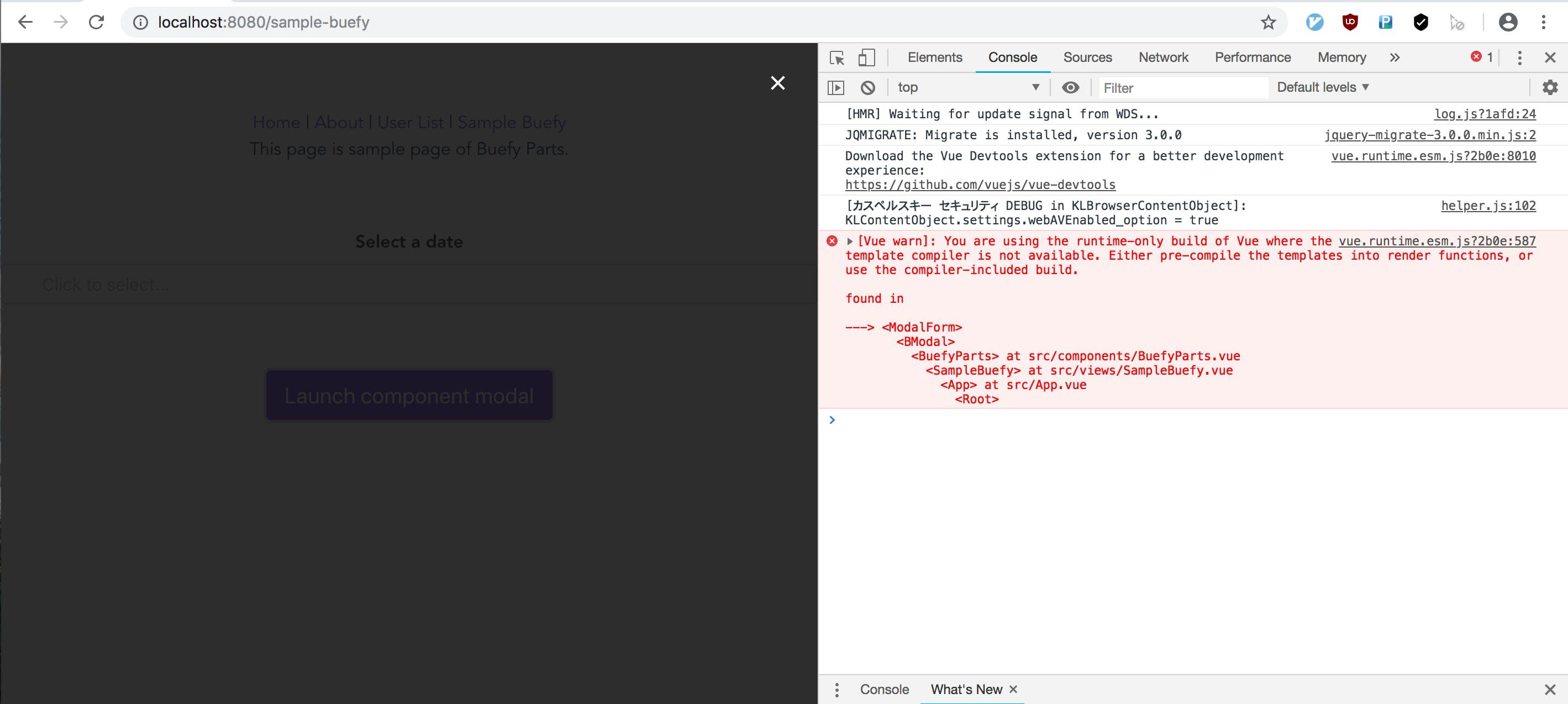 Vue js] Vue CLI で作ったプロジェクトで Buefy を使ってモーダルを実現