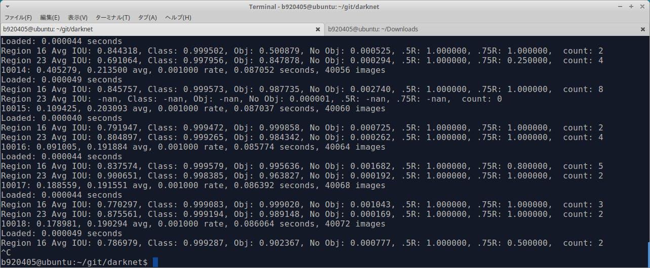独自データセットによるOne Class tiny-YoloV3のローカルトレーニングと