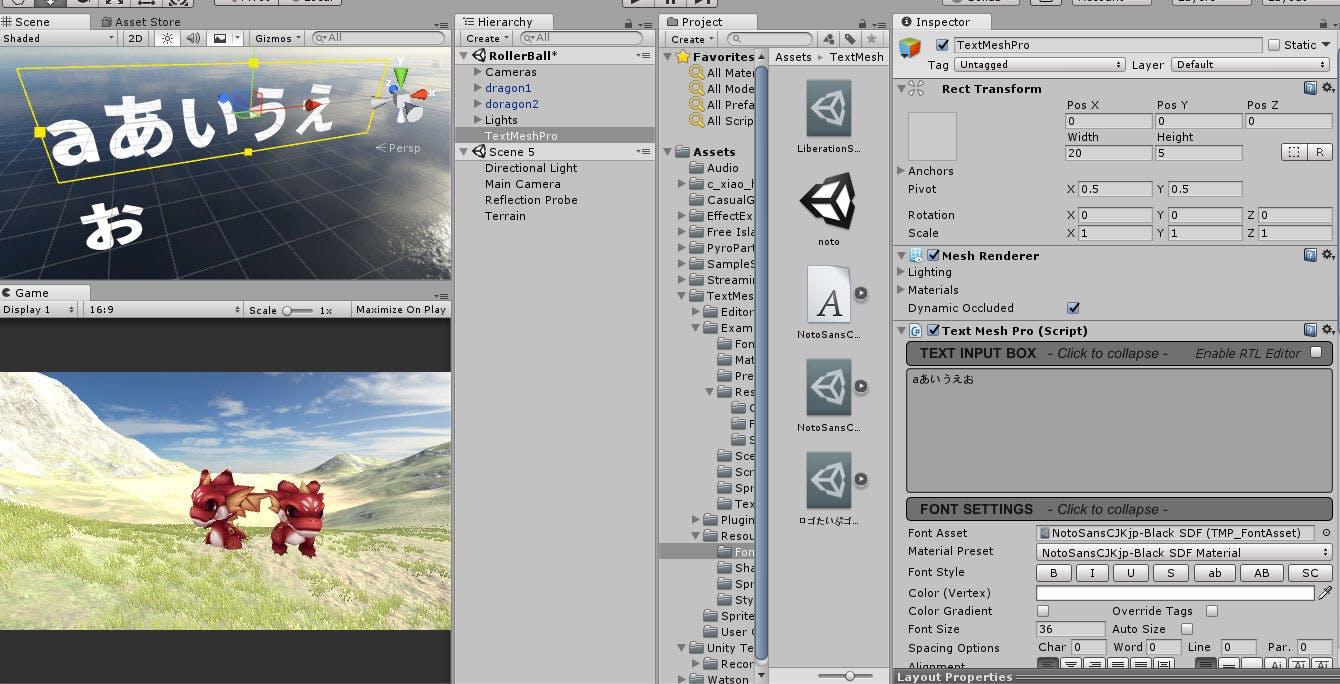 UnityのTextMeshProを日本語で使えるようにする方法 - Qiita
