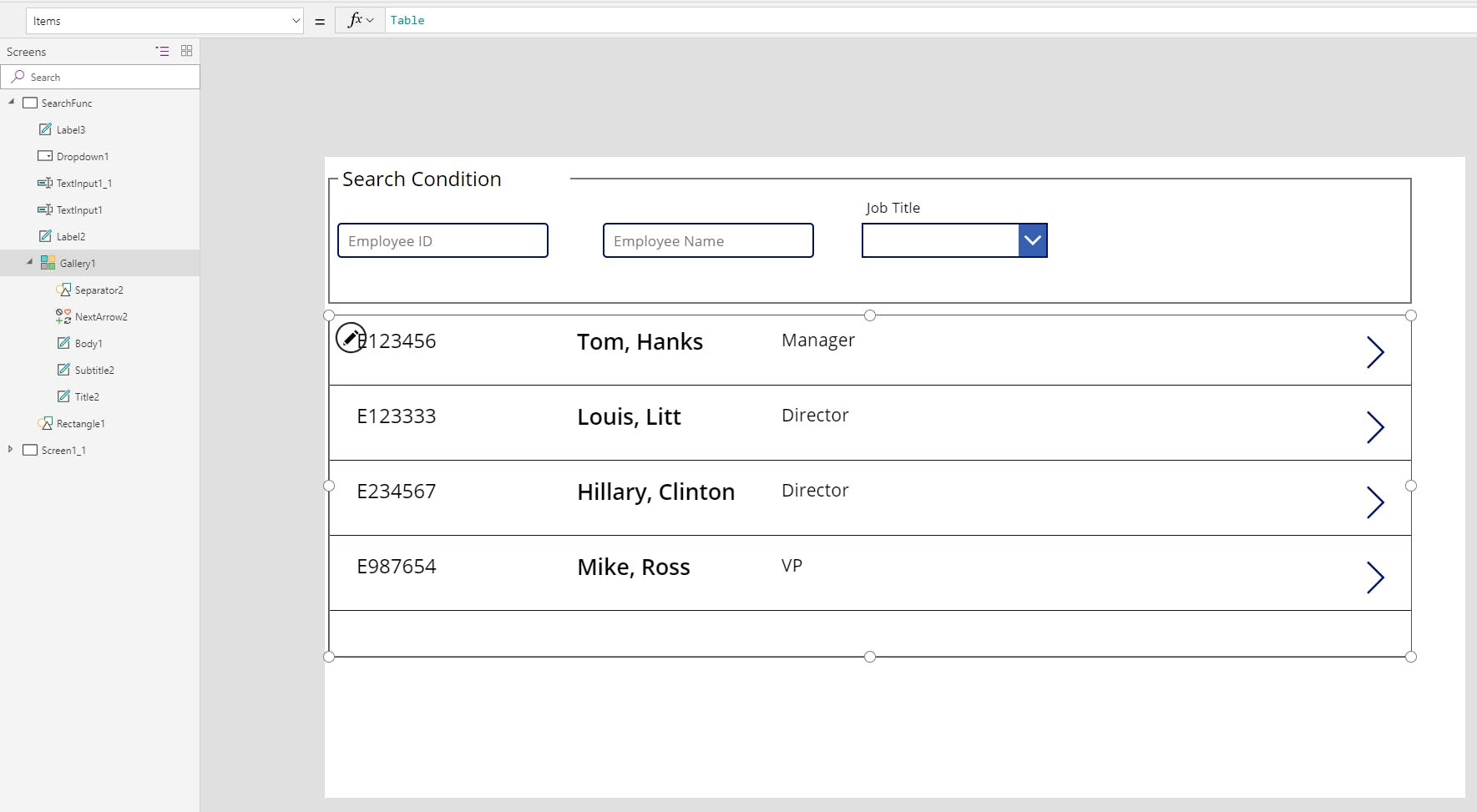 PowerApps Tips : Ambiguous search with multiple condition