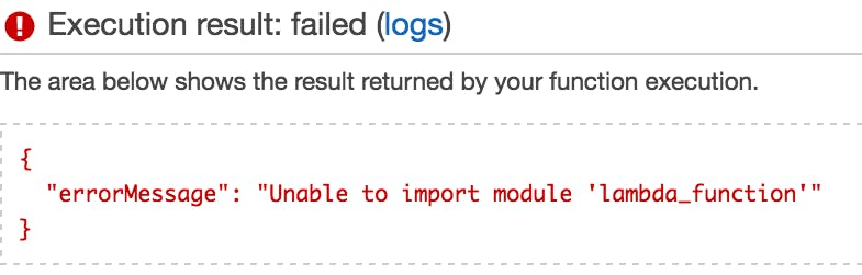 Unable to import module 'lambda_function'